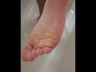 Horney Wrinkled Elated Soles Upon Calligraphic Shower